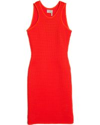 Lanvin Sleeveless Fishnet Dress - Lyst