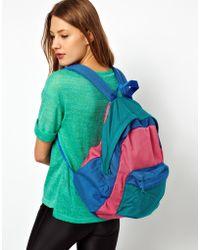 American Apparel - Colour Block Nylon Backpack - Lyst