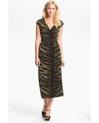 MICHAEL Michael Kors Tiger Print Wrap Dress - Lyst