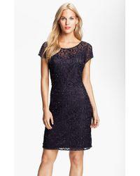 Pisarro Nights Beaded Lace Sheath Dress - Lyst
