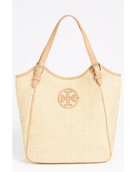 Tory Burch Small Slouchy Woven Tote - Lyst