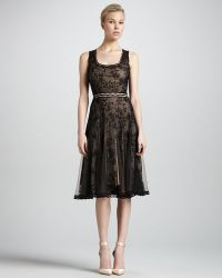 Zac Posen Scoop Neck Lace Cocktail Dress - Lyst