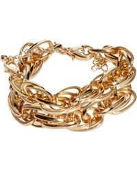 ASOS Twist Chain Bracelet Pack - Metallic
