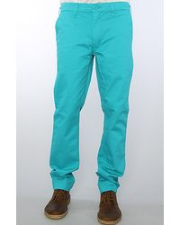 Cheap Monday The Slim Chino Pants in Turquoise - Lyst