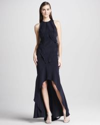 Monique Lhuillier Tiered Highlow Gown - Lyst