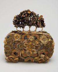 Alexander McQueen Raso Seta Knuckle Box Clutch Bag - Lyst