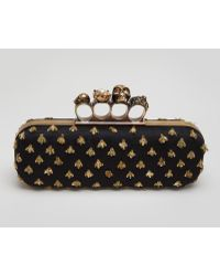 Alexander McQueen Bees Long Knuckle Box Clutch Bag - Lyst