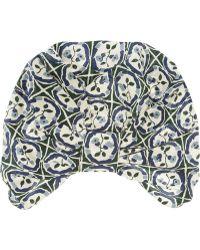 Anna Sui - Printed Silk Crepe De Chine Turban - Lyst