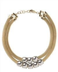 Jaeger Tubular Chain Necklace - Lyst