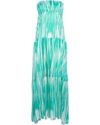 Velvet By Graham & Spencer Strapless Print Maxi Dress - Lyst