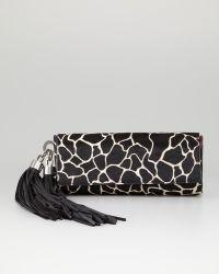 Z Spoke by Zac Posen Claudette Calf Hair Tassel Clutch Bag - Black