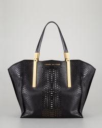 Z Spoke by Zac Posen - Womens Danes Dry Pythonprint Small Shopper Bag Black - Lyst