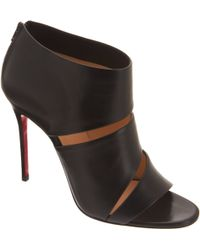 Christian Louboutin Open Toe Ankle Boots - Lyst