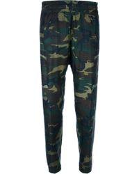 Dondup Elasticated Camo Print Trouser - Lyst