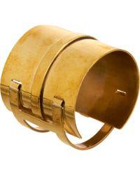 Aesa - Bronze Double Clutch Bangle - Lyst