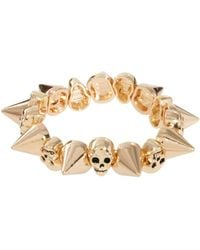 Asos Skull and Spike Stretch Bracelet - Lyst