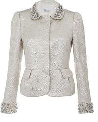 RED Valentino Embellished Jacquard Jacket - Lyst