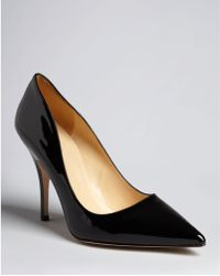 Kate Spade Pointed Toe Pumps Licorice High Heel - Lyst