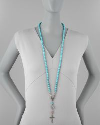 Love Heals | Long Beaded Cross Necklace | Lyst