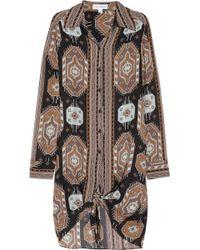Kelly Bergin - Santa Fe Printed Silk Shirt Dress - Lyst
