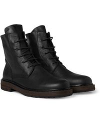 Ann Demeulemeester Laceup Leather Boots - Lyst