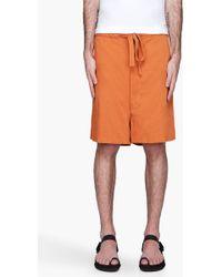 Ann Demeulemeester Burnt Orange Sierra Monk Shorts