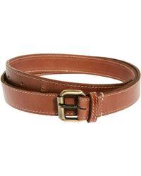Asos Asos Edge Stitch Leather Belts - Lyst