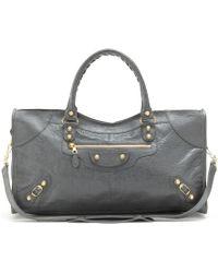 Balenciaga Giant 12 Part Time Leather Tote - Gray