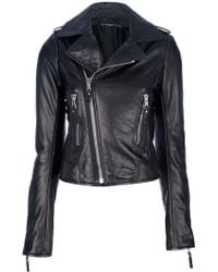 Balenciaga Classic Moto Jacket black - Lyst