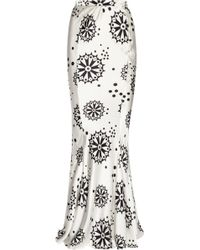 Duro Olowu - Printed Silk Satin Maxi Skirt - Lyst