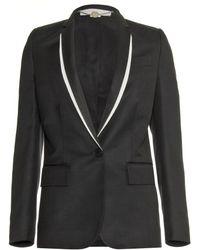 Stella McCartney Blazer with Layered Shawl Collar - Lyst