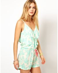 Pepe Jeans Printed Playsuit - Green
