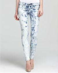 Sold Design Lab Quotation Jeans Tie Dye Super Skinny - White