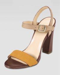 Cole Haan Minetta Chunkyheel Sandal Citrinesandstone - Lyst