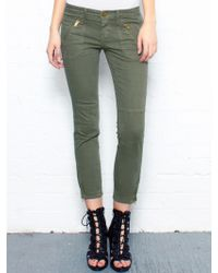 Current/Elliott The Stiletto Skinny Jeans green - Lyst