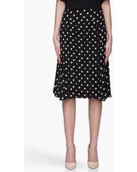 Hakaan - Black Polka Dot Pleated Passion Skirt - Lyst