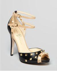Ivanka Trump Sandals Ayla Ankle Strap Studded High Heel - Lyst