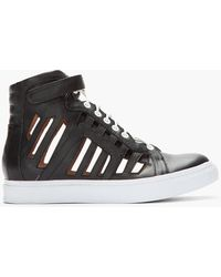 Jeffrey Campbell - Leather Trap Cage Sneakers - Lyst