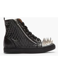 Jeffrey Campbell - Black Quilted Adam Spiked Cap Sneakers - Lyst