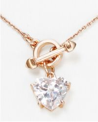 Juicy Couture - Cz Heart Necklace 16 - Lyst