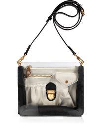 Marc By Marc Jacobs Black Leatherpvc Crossbody Bag - Lyst