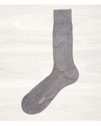 Pantherella Pantherella Grey Ribbed Socks - Lyst