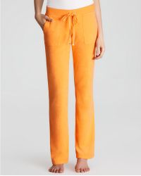Juicy Couture - Pants Terry Basic Bootcut Snap Pocket - Lyst
