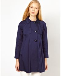 ASOS Collection Asos Pleat Swing Mac blue - Lyst