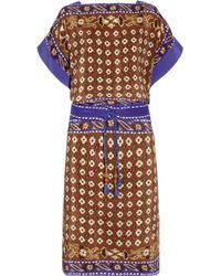 Chloé Printed Silk Dress - Lyst
