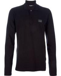 Dolce & Gabbana Long Sleeved Polo Shirt - Lyst