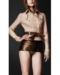 Burberry Prorsum Leather Corset Trench Jacket - Lyst