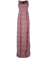 Marni Leaf Print Maxi Dress - Lyst