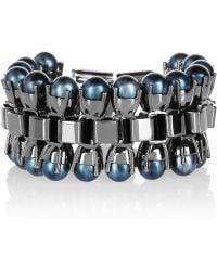 Mawi - Chainlink Silvertone Bracelet - Lyst