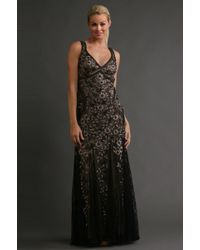 Sue Wong Embroidered Lace Gown - Lyst